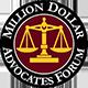 Million dollar advocates forum award