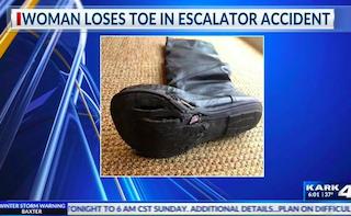 Arkansas escalator accident and verdict
