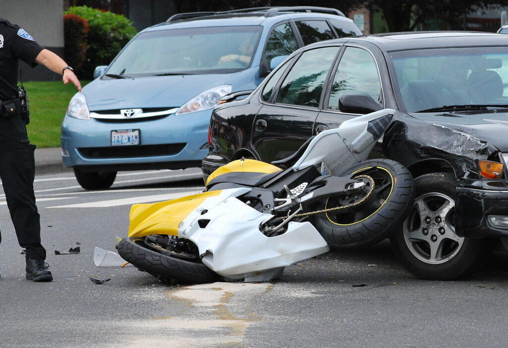 where to most motorcycle accidents occur