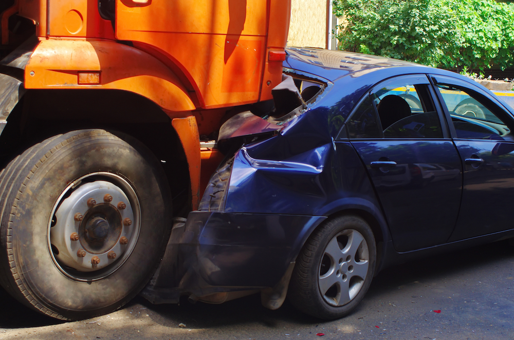 truck accident with car